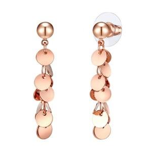 Dámske náušnice vo farbe ružového zlata Runaway Monica