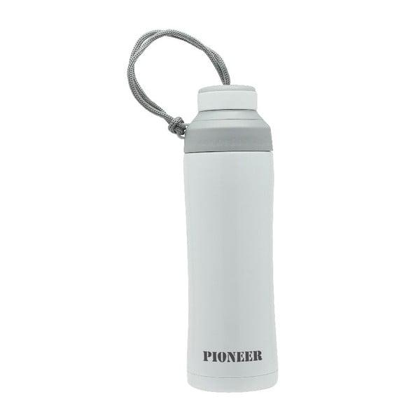 Biela športová fľaša Pioneer, 450 ml