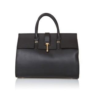 Čierna kožená kabelka Markese Sulio
