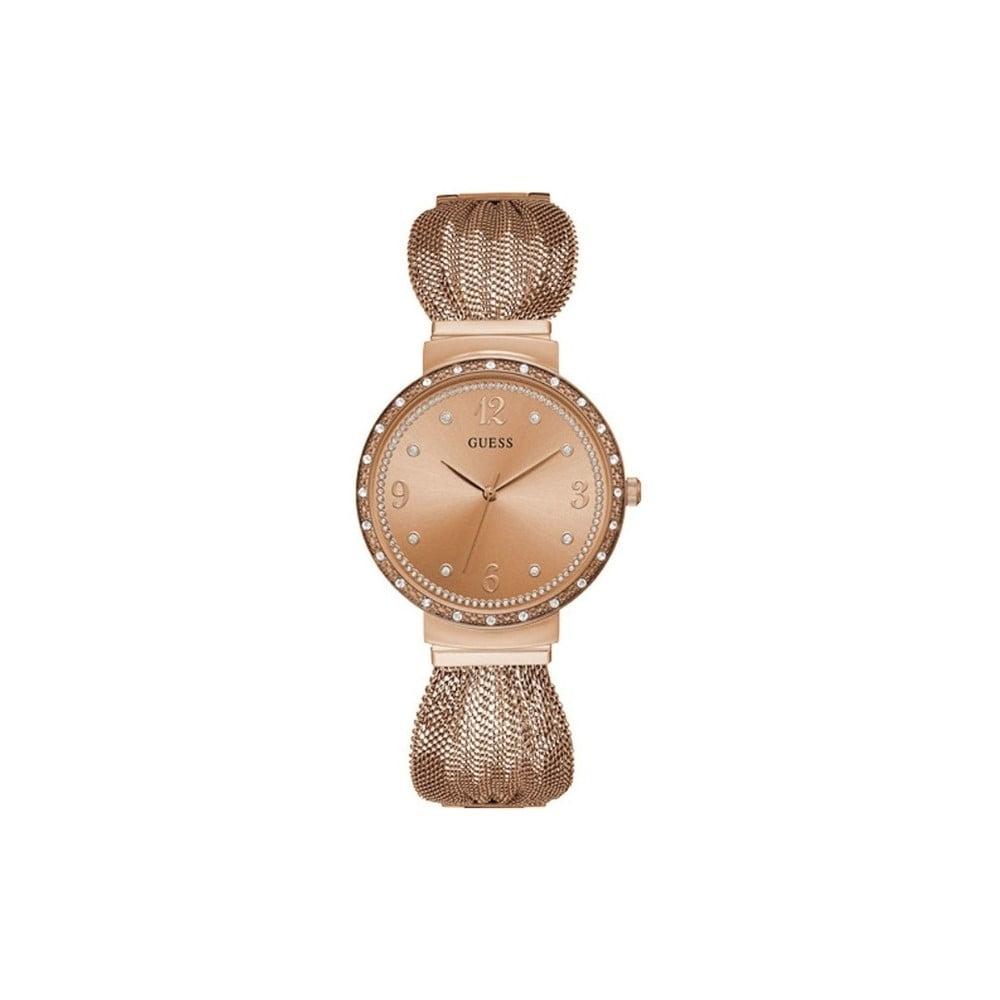 Dámske hodinky v ružovozlatej farbe s antikoro remienkom Guess W1083L3