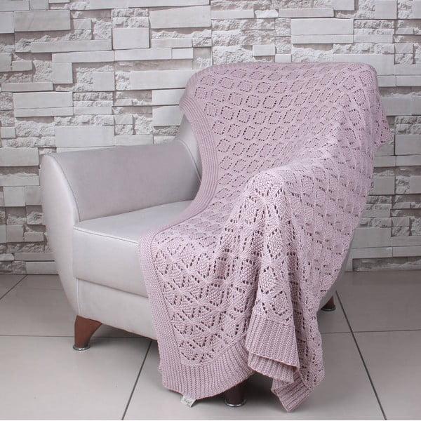 Ružová bavlnená deka Celma