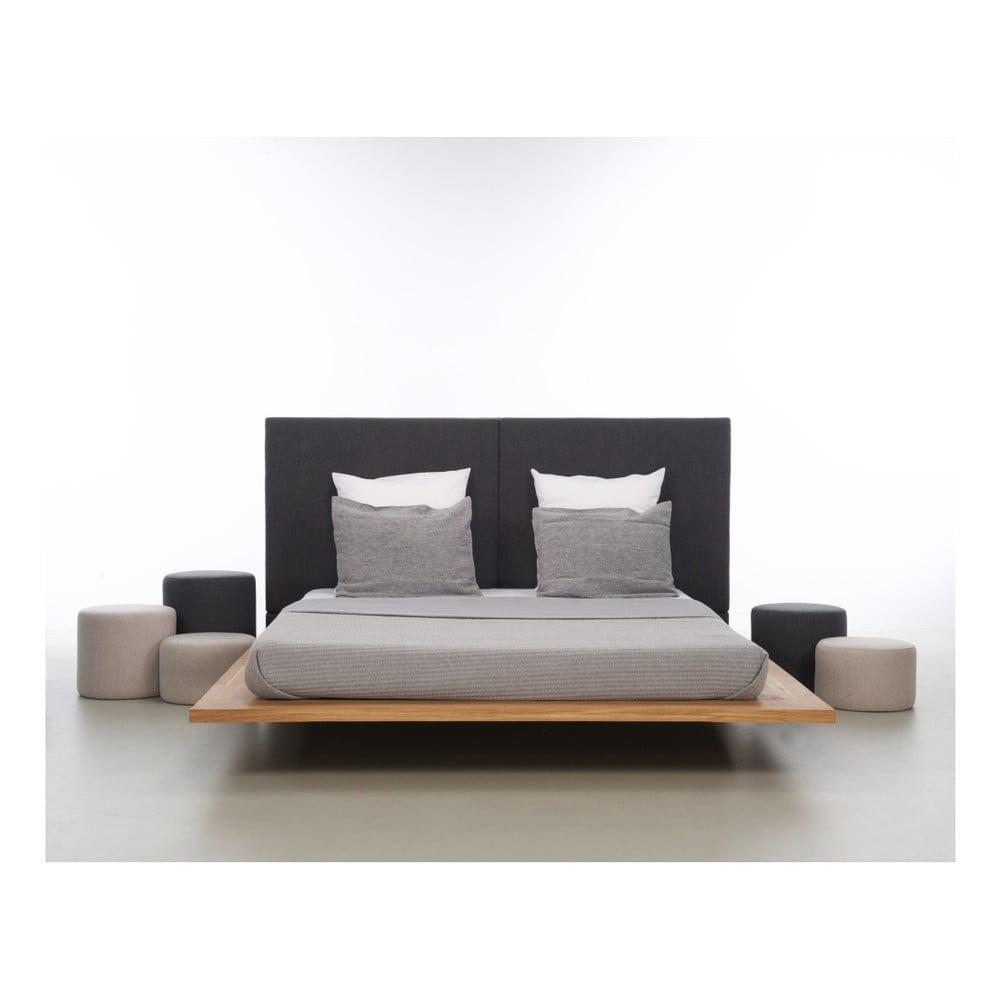 Posteľ z olejovaného dubového dreva Mazzivo Mood 2.0, 120 × 220 cm