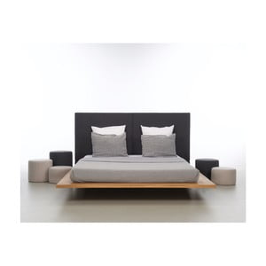 Posteľ z olejovaného dubového dreva Mazzivo Mood 2.0, 140×220 cm