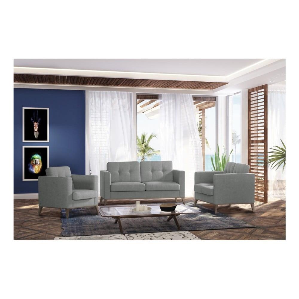 svetlosiv dvojmiestna pohovka stella cadente maison recife bonami. Black Bedroom Furniture Sets. Home Design Ideas