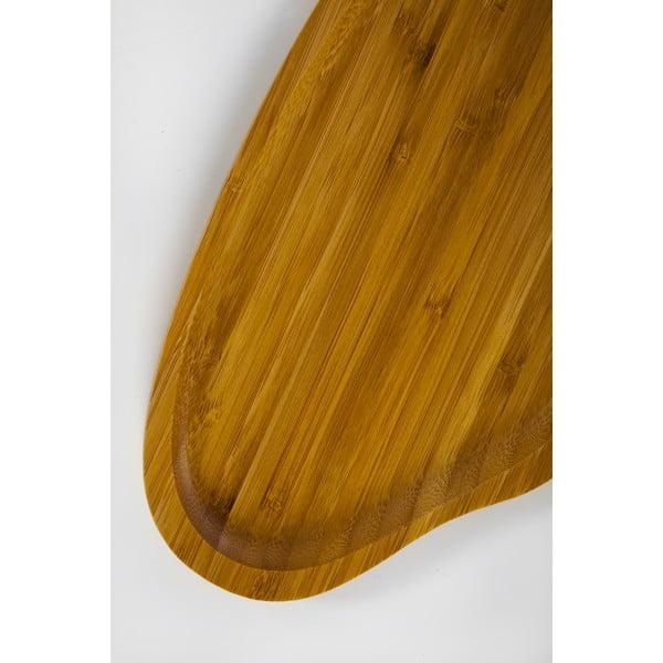 Bambusová servírovacia tácka Bambum Santos, 26x15cm