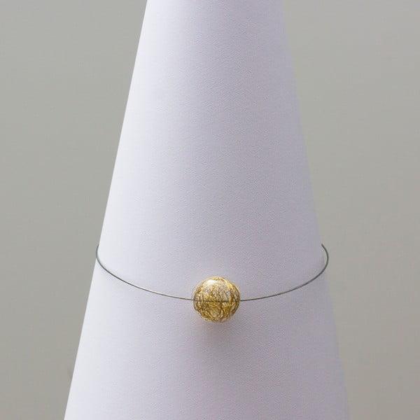 Sklenený náhrdelník ko-ra-le Wired, zlatý