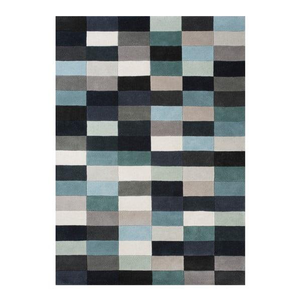 Vlnený koberec Linie Design Romina Aqua, 170x240 cm