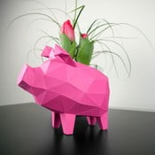 Papierová soška Prasiatko, ružové
