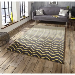 Sivo-žltý koberec Think Rugs Spectrum Grey Yellow, 120x170cm