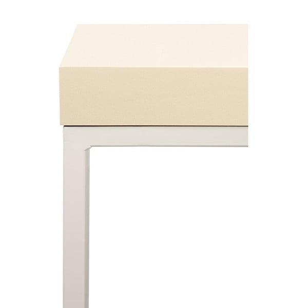 Odkladací stolík s krémovou doskou TemaHome Prairie