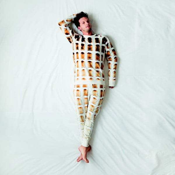Pánska biela mikina Snurk Toast, XL