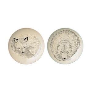 Sada 2 plytkých kameninových tanierov Bloomingville Adelyn Garda, ⌀ 20 cm