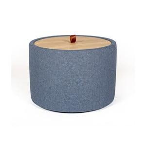 Odkladací stolík v denimovomodrej farbe s odnímateľnou doskou z dubového dreva Askala Ibisco, ⌀ 56 cm