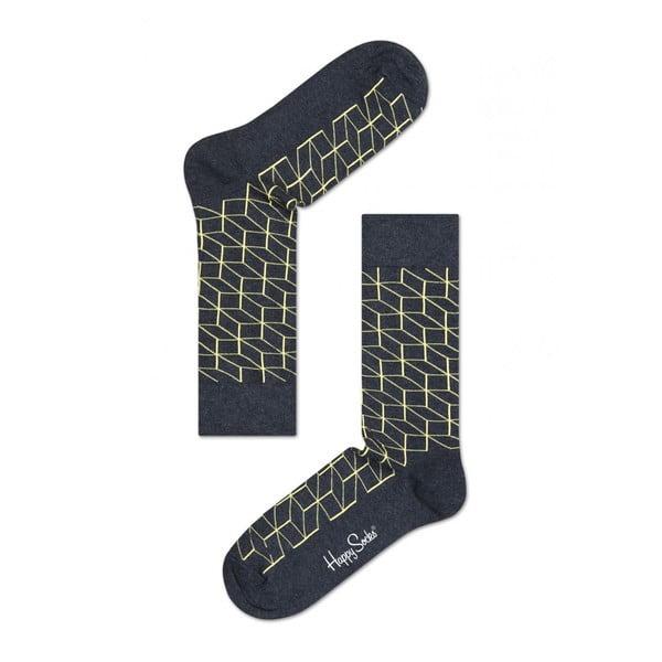 Ponožky Happy Socks Yellow Geometry, veľ. 36-40