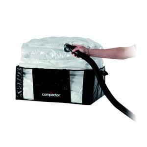 Čierny úložný box s vakuových obalom Compactor, 65×50 cm