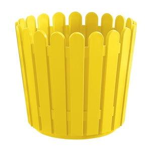 Kvetináč Round Planter Yellow, 30x27 cm