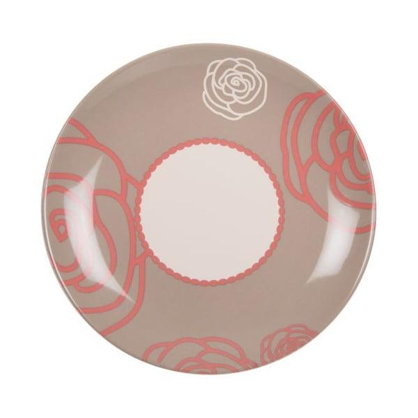 Sada 18 ks keramických tanierov Scarlet Brown