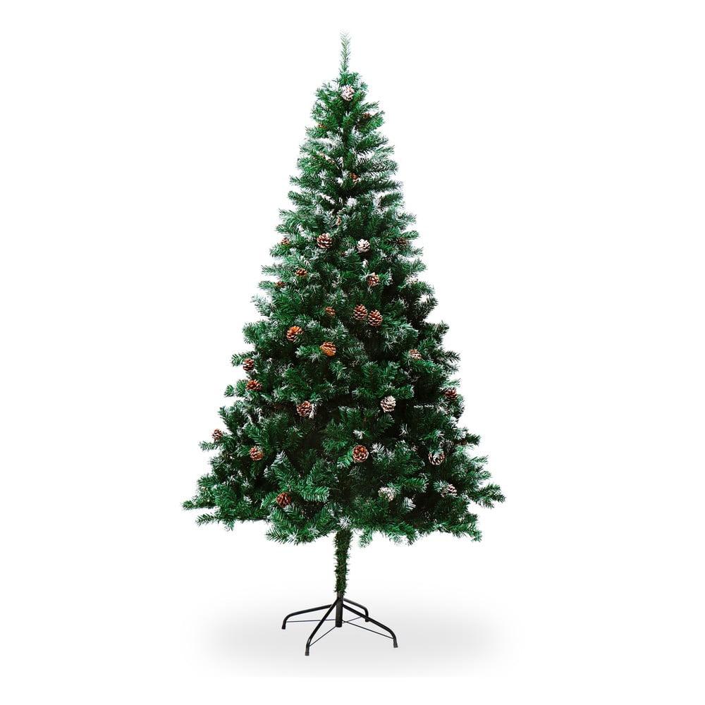 Umelý vianočný stromček so šiškami, výška 1,8 m
