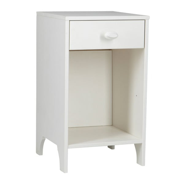 Nočný stolík Emma, biely