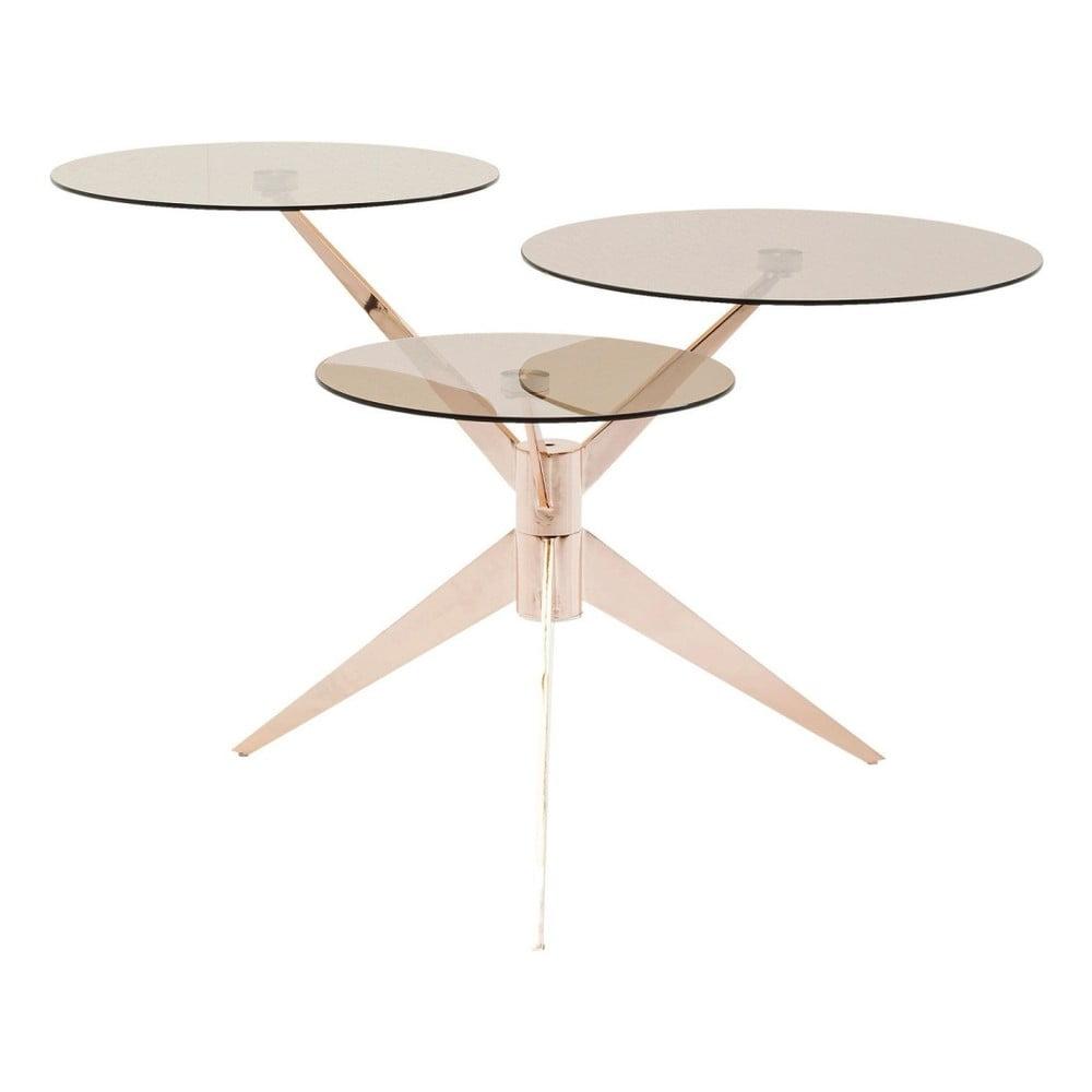 Odkladací stolík Kare Design Bonsai Tre Rosegold