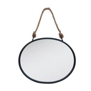 Nástenné závesné zrkadlo Clayre & Eef Rope Round, 50 x 40 cm