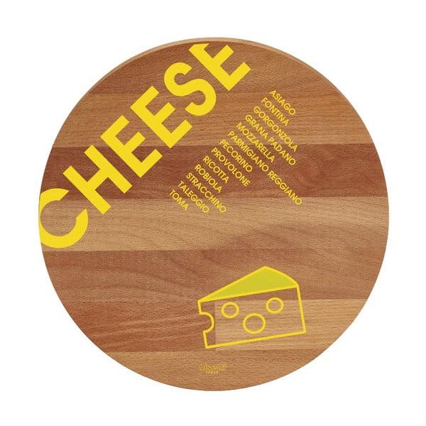 Lopárik z bukového dreva Bisetti Cheese, 30cm