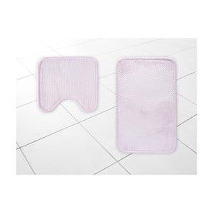 Sada 2 ružových kúpeľňových predložiek Nubia, 45×50 cm / 50×80 cm
