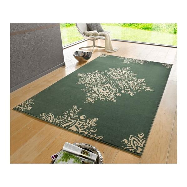 Zeleno-biely koberec Hanse Home Gloria Blossom, 200 x 290 cm