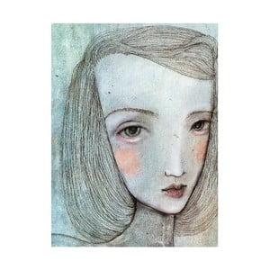 Autorský plagát od Lény Brauner Sivé dievča, 46x60 cm