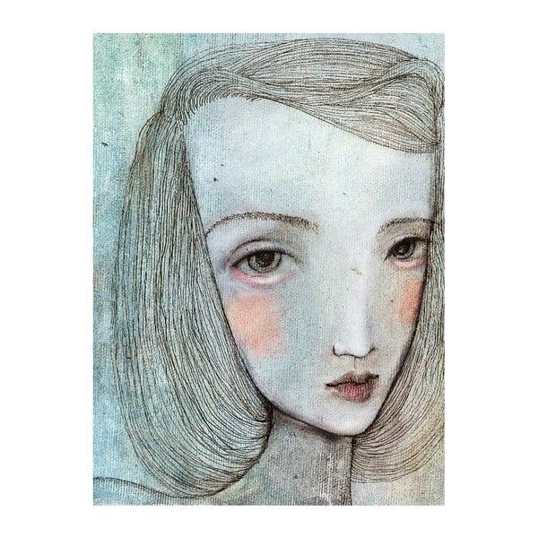 Autorský plagát od Lény Brauner Sivé dievča, 60x77 cm