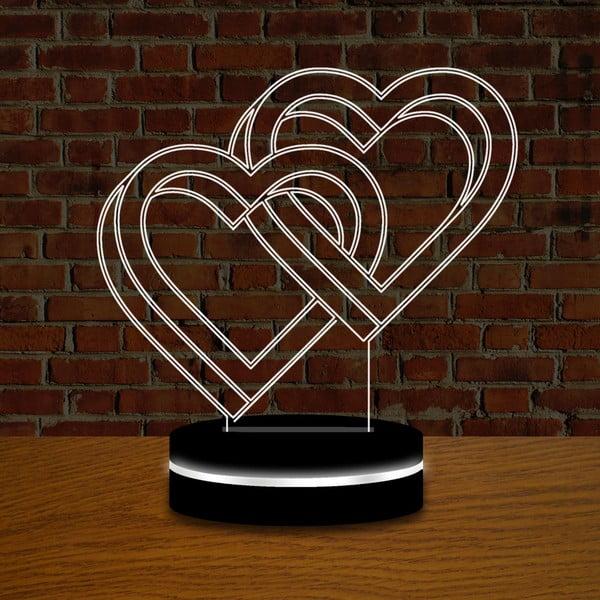 Svetlo s 3D efektom Double Love
