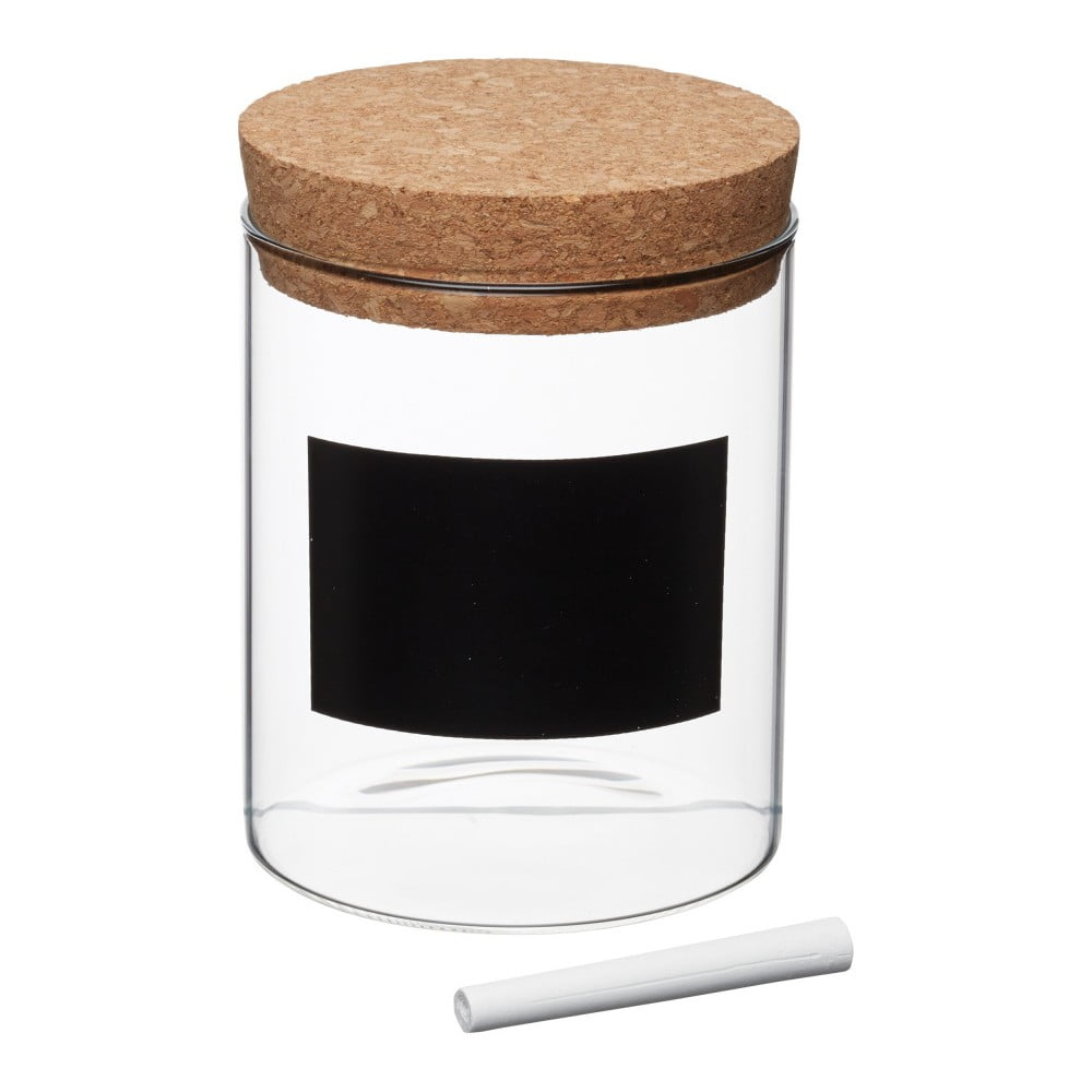 Dóza s tabuľovým štítkom Kitchen Craft Natural Elements, ⌀ 13 cm