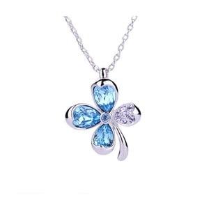 Náhrdelník s modrými krištáľmi Swarovski Elements Crystals Clover