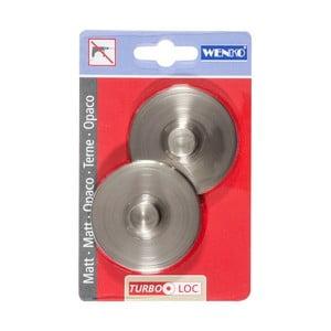 Sada 2 nástenných háčikov Wenko Turbo-Loc Matt