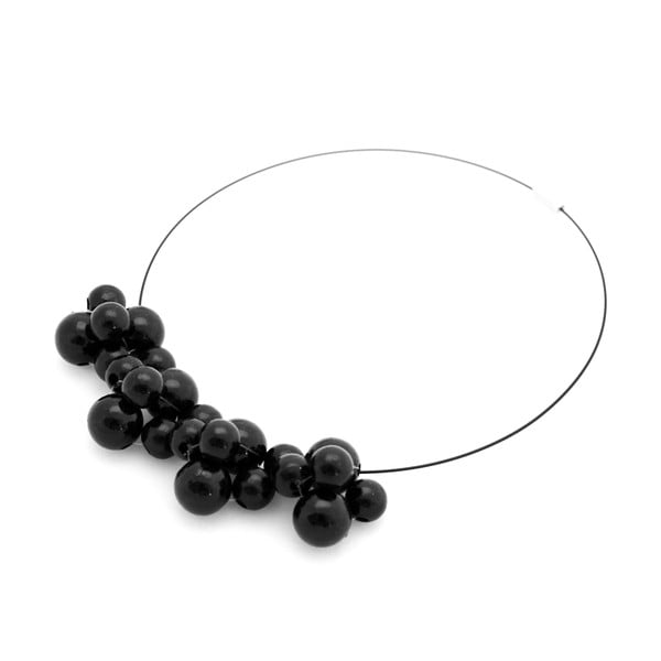 Čierny drevený náhrdelník ko–ra–leBubbles