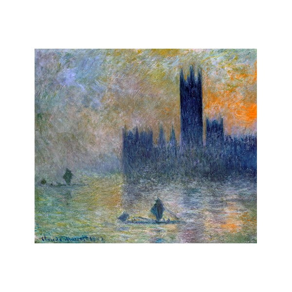 Obraz Claude Monet - The Houses of Parliament, 80x70 cm