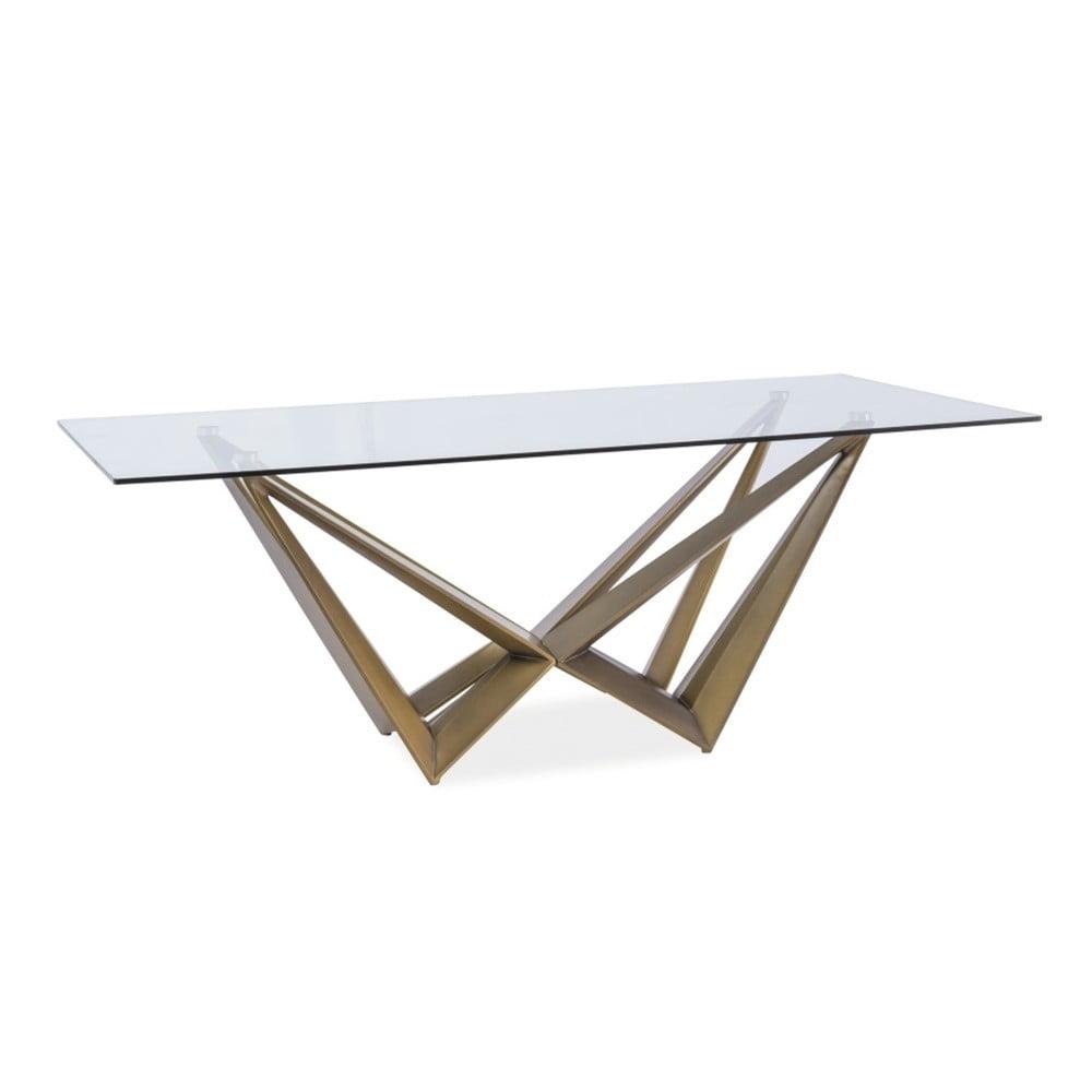 Jedálenský stôl s doskou z tvrdeného skla Signal Aston, 200 × 100 cm