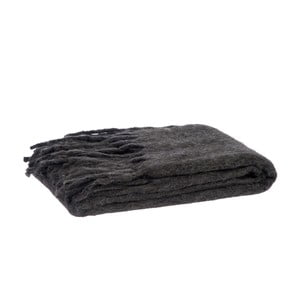 Prikrývka Fringes Grey, 125x150 cm