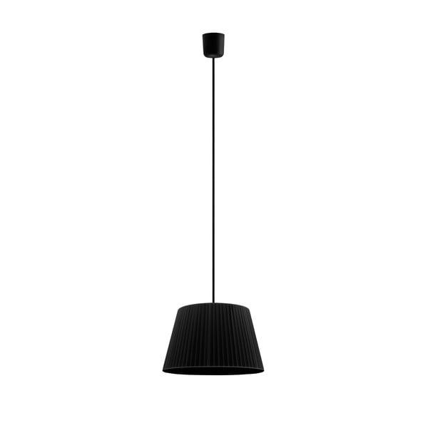 Čierne závesné svietidlo Sotto Luce KAMI,Ø36cm