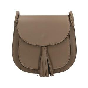 Sivobéžová kožená kabelka Roberto Buono Kara