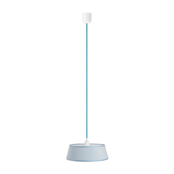 Závesné svetlo Tako, svetlomodrá/modrý kábel