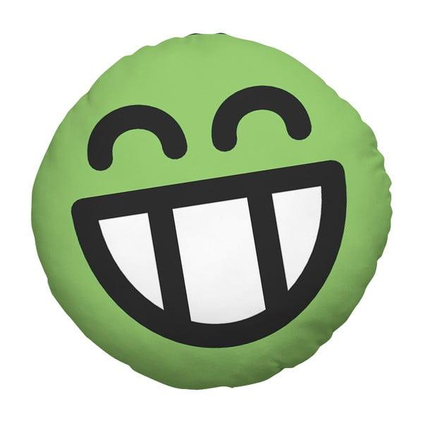 Vankúš Emoji Green, 39 cm