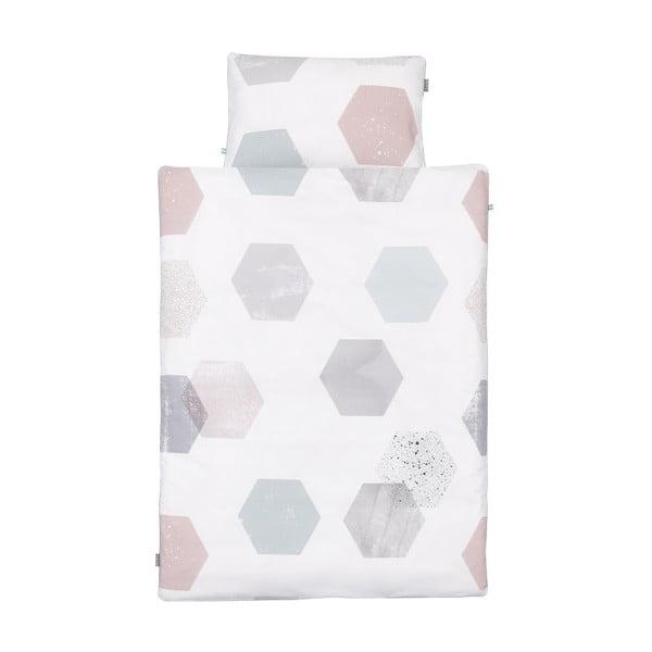 Bavlnené obliečky na dvojlôžko Mumla Hexagons, 200×200 cm