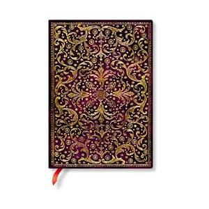 Linajkový zápisník s mäkkou väzbou Paperblanks Aurelia, 13 x 18 cm