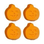 Sada 4 oranžových silikónových foriem na cupcaky Premier Housewares Pumpkin