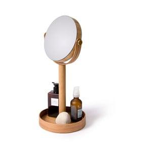 Stolové zrkadlo s poličkou Magnify Bamboo