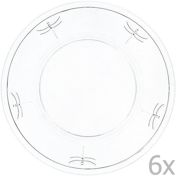 Sada 6 tanierov Libellules, 32 cm