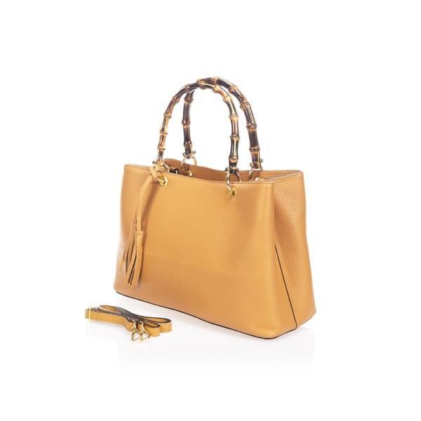 Kožená kabelka Markese 5028 Cognac