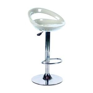 Biela kovová barová stolička Valdomo Sally