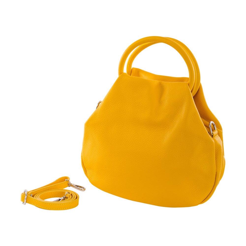 Žltá kabelka z pravej kože Andrea Cardone Dolcezze  5efea54f585